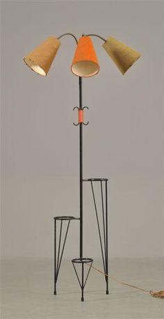 Floor Lamp with PLant Stands | 1960s #midcentury #retro