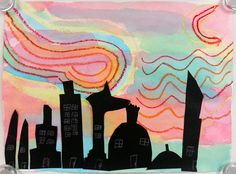 Art with Ms. Gram: Silhouette Cityscapes (2nd)
