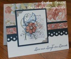 CTMH Ariana card with Fabulous You and Big Hug stamp sets - by Kristine Tanase