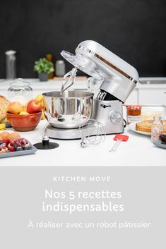 Cooking Chef Gourmet, Cooking Recipes, Robot A Patisserie, Stand Mixer Recipes, Masterchef, Tasty, Yummy Food, Breakfast Dessert, Mousse