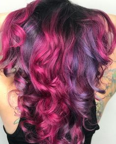 """WEBSTA @ hairbyyvetteraquel - """"Unrequited Love"""" ❤️ on the beautiful @cheekythedreamer3 Used all @celebluxury Viral Shampoo in Hot Pink with Ribbons of Teal and Blue. #1000orbust #vividclique  #growtogether .#hairofinstagram#hairtrends#scissorsalute…"""