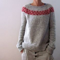 Crochet Patterns Sweter Ravelry: bubbly sweater pattern by Isabell Kraemer Christmas Knitting Patterns, Sweater Knitting Patterns, Knit Patterns, Dress Gloves, Fair Isle Knitting, Yarn Brands, Work Tops, Pulls, Knitwear