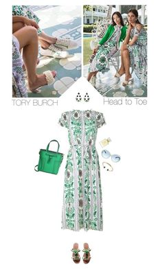 """""""Tory Burch"""" by helena99 ❤ liked on Polyvore featuring Tory Burch, floral, ToryBurch and sandals"""
