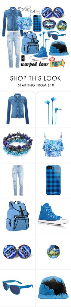 """""""Warped Tour (Four)"""" by neonhorse3000 ❤ liked on Polyvore featuring Lee, Sony, Lord & Taylor, Forever New, Paige Denim, Isaac Mizrahi, Sherpani, Converse and warpedtour"""