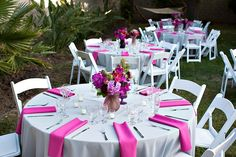 gray+and+fuschia+images | table grey and fuschia