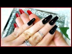 DIY Louboutin Nails - I show you how to create Louboutin nails for everyday or a special occasion! Acrylic Nail Powder, Acrylic Nail Tips, Red Acrylic Nails, Red Nails, Louboutin Nails, Red Bottom Nails, Cute Nails, Pretty Nails, Pink Manicure