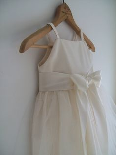 ClaraOrganic cotton Flower girl dress tulle by OliveandFern, $99.00