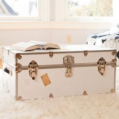 Wanted one of these for sooo long! Looks like i better put in a lot of hours at work this summer! Dorm Trunk #potterybarnteen