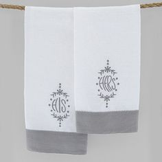 Pom Pom at Home His/Hers Hand Towel Set of 2