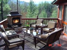 decks with fireplaces - Google Search