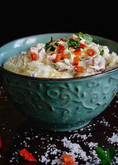 3 απολαυστικές ιδέες για πατατοσαλάτα - Just life Hummus, Grains, Rice, Ethnic Recipes, Food, Essen, Meals, Seeds, Yemek