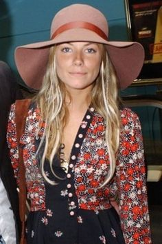 Sienna Miller..to me she's the epitome of the modern hippie