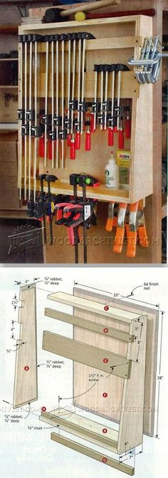 Small Clamp Storage Rack - Workshop Solutions Projects, Tips and Tricks | WoodArchivist.com