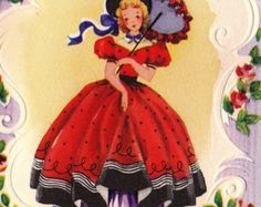Items similar to Vintage Walking Doll Valentine Greetings Card on Etsy Valentine Greeting Cards, Vintage Greeting Cards, Vintage Postcards, Vintage Images, Happy Birthday Vintage, Vintage Valentines, Happy Birthday Me, Birthday Greetings For Facebook, Old Cards