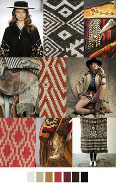 A/W 2016-17 COLORS + PATTERN TREND : Gaucho Style