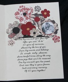 60th Wedding Anniversary Poem | 60th Anniversary Card - Two Peas in a Bucket