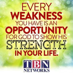 Weakness is Opportunity