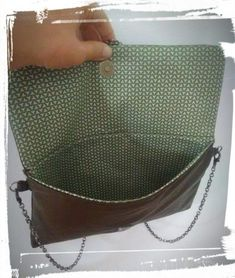 Coin Couture, Couture Sewing, Diy Bags Purses, Sewing Leather, Louis Vuitton Damier, Tote Bag, Crochet, Pattern, Scrap