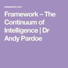Framework – The Continuum of Intelligence | Dr Andy Pardoe