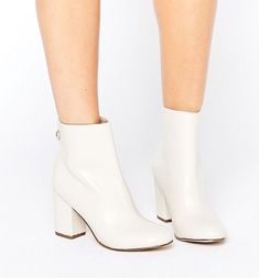 Fresh, all-white booties that Twiggy definitely rocked during the '60s. | 26 Ankle Boots Under $40 That Will Elevate Your Fall Style