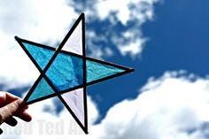 Craft Stick Craft Stars - Suncatchers