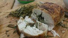 Chicken with herb butter Herb Butter, Turkey, Herbs, Meat, Chicken, Food, Turkey Country, Essen, Herb