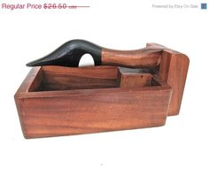 Canada Goose Wooden Nutcracker Box