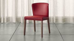 Crate & Barrel Curran Red Dining Chair