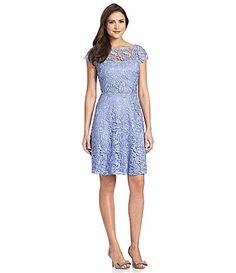 Marina CapSleeve CrochetLace Dress #Dillards $150
