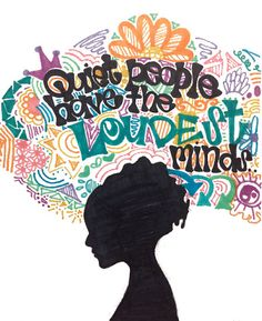 'Quiet People Have The Loudest Minds.' - Stephen Hawking. Illustration by alexavec. #Illustration #Quotation