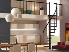 Indoor Stair Railing Pictures and Ideas - Have you ever notion approximately stair railing layout? Sometime, you can need to use a few stair railing ideas Small Space Staircase, Floating Staircase, Spiral Staircase, Staircase Design, Indoor Stair Railing, Staircase Pictures, Loft Stairs, Structure Metal, Creative Home