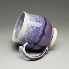 """183 Likes, 17 Comments - Kaitlyn Chipps (@kaiceramics) on Instagram: """"Another purple mug! I had fun with the feathery drips on the outside. This mug is for sale at…"""""""