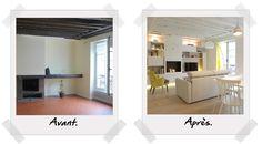 Salon avant après // http://www.deco.fr/bricolage-travaux/amenagement/actualite-690928-pieces-42.html