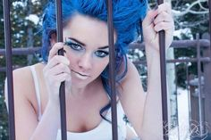 Feeling blue ! Had such a blast 2013 creating this . Froze my tush off out side while capturing all the great photos from this set but at least it was 100% worth it !   Photo taken by Ever After Photography at Crescent Falls
