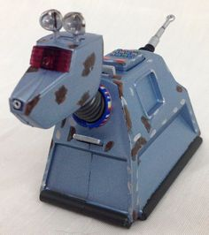 """DOCTOR WHO 10th Doctor's K9 """"Damaged variant"""" 5 inch scale Action Figure"""