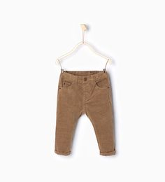 Image 1 of Corduroy trousers from Zara