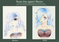 Draw Again Meme 1 - Sapphire by animefanatic92.deviantart.com