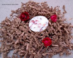 Rose & neroli bath melt, made by Rub-a-dub Club sarah@radc.co.uk