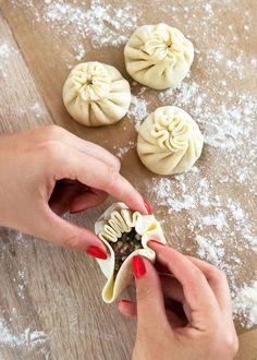 Dim Sum, Dumplings, Pizza, Healthy Recipes, Healthy Food, Decoupage, Garlic, Food And Drink, Bread