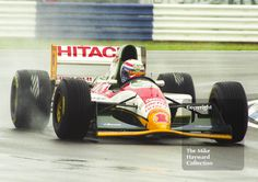 Alessandro Zanardi, Lotus 107B, seen during wet qualifying at Silverstone for the 1993 British Grand Prix. #f1 #formula1