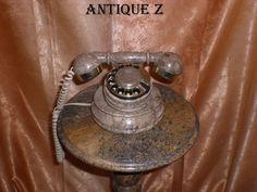Rare! Granite telephone, retro-chic, vintage by AntiqueBoutiqueZ on Etsy
