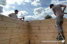 Maison bois : enfoncement des chevilles bois