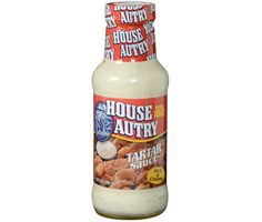 http://www.worldgrocerystoreandmore.ecrater.com/p/25073657/ House - Autry Tartar Sauce 10 oz Glass Bottle.  Our rich & creamy Tartar Sauce is excellent on shrimp, oysters, clams, crab cakes, fish, shrimp salad, & more.