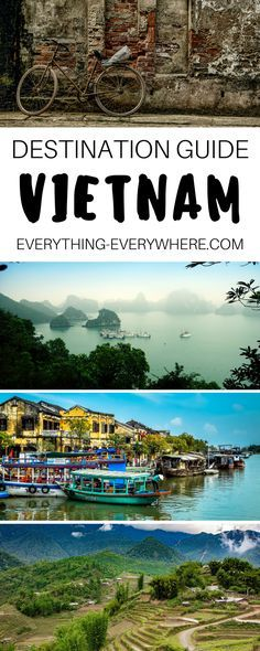 The ultimate travel guide to Vietnam including top destinations and things to do in Halong Bay, Hue, Hoi An, Saigon and more + best Vietnamese food and cuisine and other practical tips for your trip. | Everything Everywhere Travel Blog #Travel #Vietnam