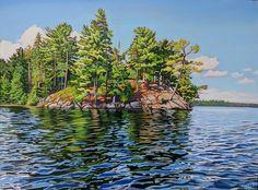 Acrylic on Gallery Canvas Algonquin Park Canadian Painters, Canadian Artists, Landscape Quilts, Landscape Paintings, Landscapes, Algonquin Park, Watercolor Paintings, Watercolors, Acrylic Canvas
