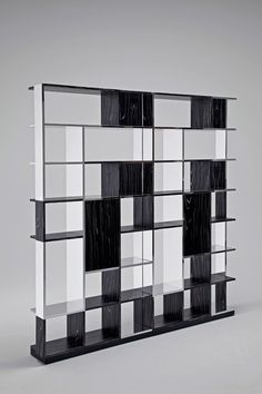 Design: Mario Bellini, 2007 Sudoku is a puzzle of unequal elements that create a… Wall Shelving Units, Display Shelves, Visual Effects, White Wood, Storage, Bellini, Projects, Design, Empty