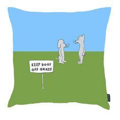 Dan Golden Studio: Keep Dogs Off Grass Pillow 18x18, at 30% off!
