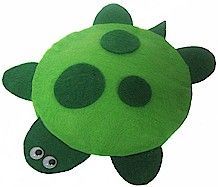 Bean bag turtle DIY craft with felt (no sew)