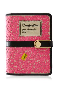 Pink Notebook Victoire Bag by Olympia Le-Tan