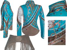 Gorgeous horse show outfit! This would look great on Sassy or Dusty. Too bad Sassy is a speed horse :P Western Show Shirts, Western Show Clothes, Horse Show Clothes, Western Outfits, Western Wear, Riding Clothes, Pretty Outfits, Beautiful Outfits, Cool Outfits